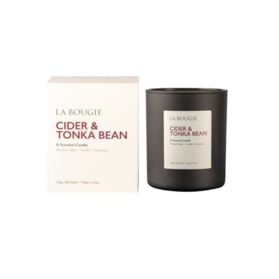 Cider and tonka bean candle la bougie