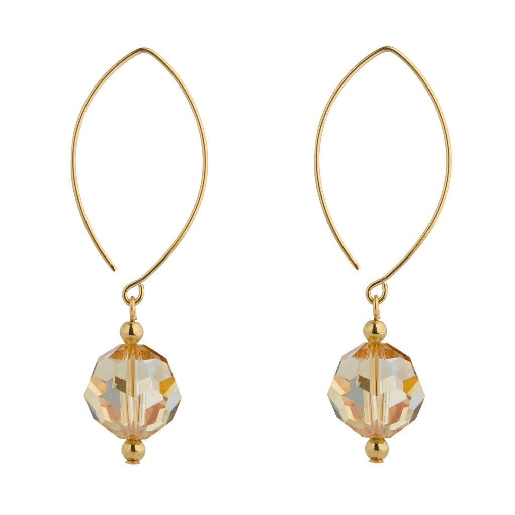 Oval Open Golden Shadow Earrings