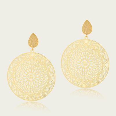 Moroccan Disc Earrings