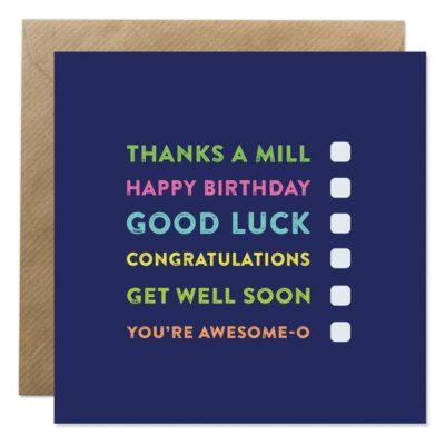 multi tick occasion card