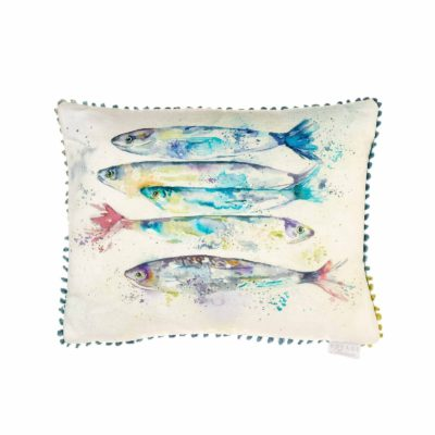 Sardines Cushion White