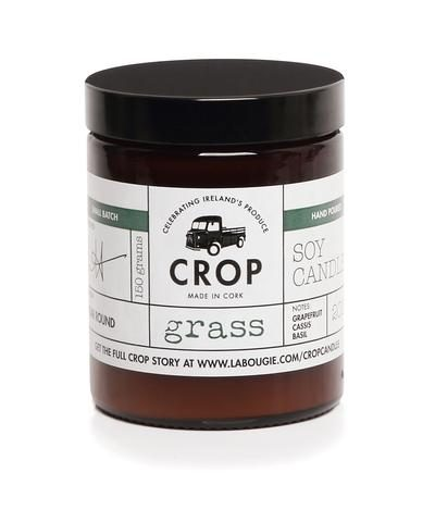 crop grass candle