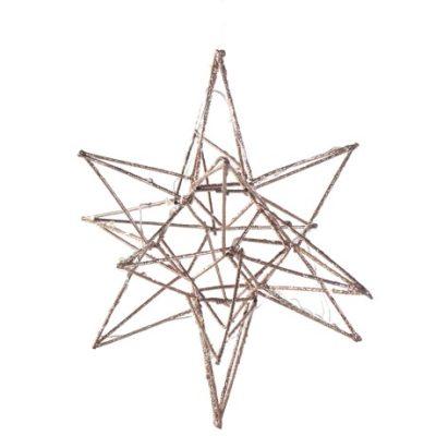 copper glitter 3D star