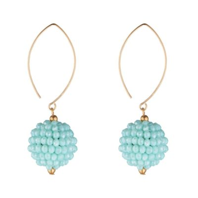 Gold Filled Oval Clusters in Turquoise