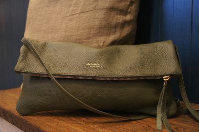 Army green jamie two way bag kinsale leather