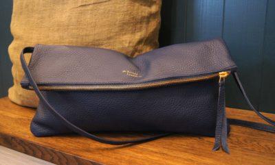 Deep blue jamie two way bag kinsale leather