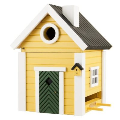 Bird house and feeder yellow
