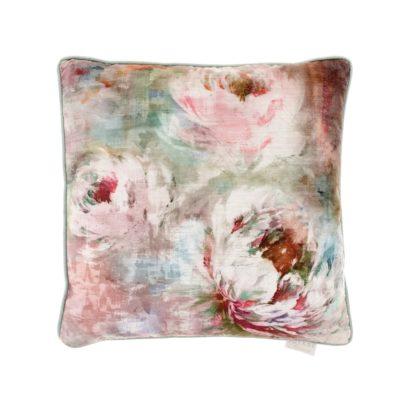 roseum coral velvet cushion voyage maison