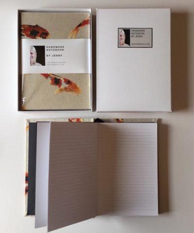 koi fish handmade notebook jenny mccarthy