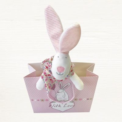 rabbit baby girl comforter