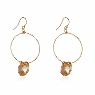 golden shadow hexagon momuse earrings