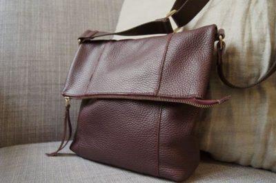 Kinsale Leather oxblood maggie messenger bag