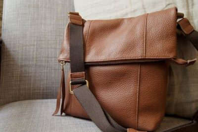 Tan Maggie messenger bag kinsale leather