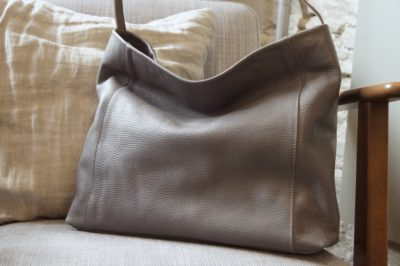 Jessa Hobo bag dark grey kinsale leather