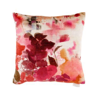 Varese coral velvet cushion voyage maison