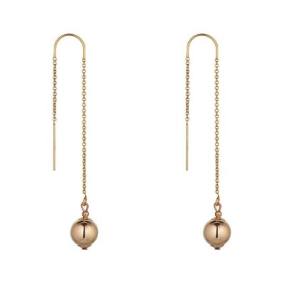 14kt Gold filled ball threader earring MoMuse