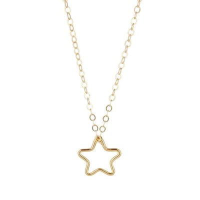 14kt gold filled chain with star pendant momuse