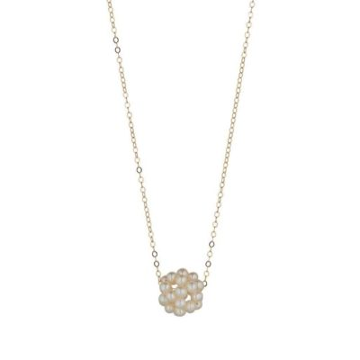 14kt gold filled pearl cluster necklace momuse