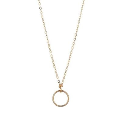 14kt gold filled small circle pendant momuse