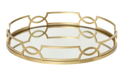 Gold finish Emma Serving Tray