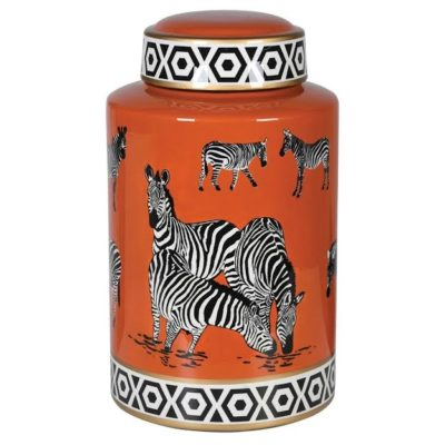 Zebra Ginger Jar
