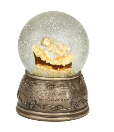 Baby jesus snow globe