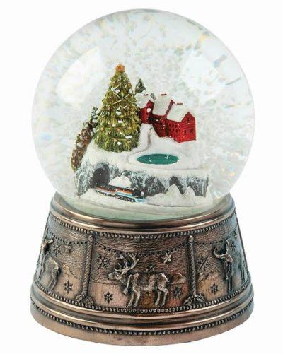 Christmas town snow globe