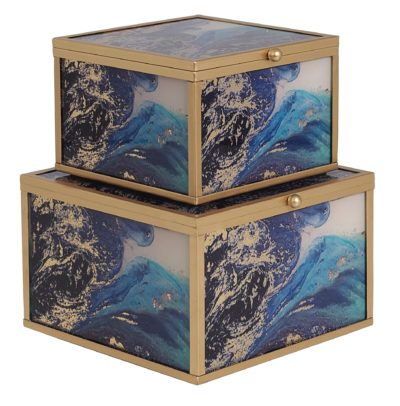Blue Trinket Boxes